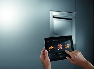 Kitchen News and Trends from Cologne - LivingKitchen 2017 - Photo 2 of 7 - Liebher - refrigeration and freezer appliances able to network with mobile devices help in shopping and meal planning using Cameras with object recognition.