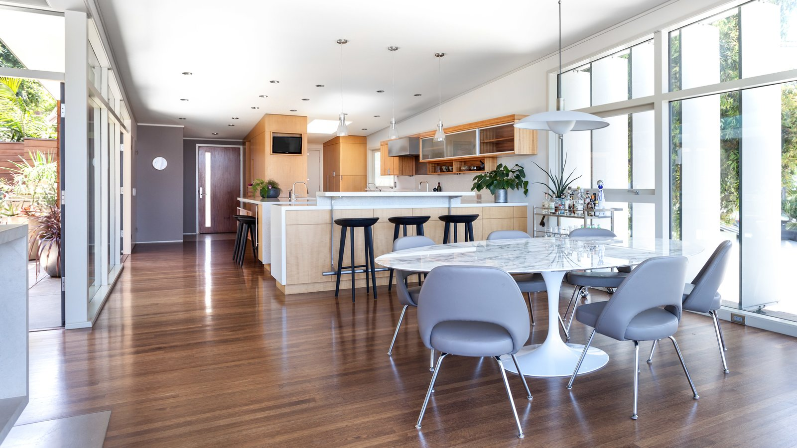 Dining to Kitchen.  Wooden Louvers from inside.