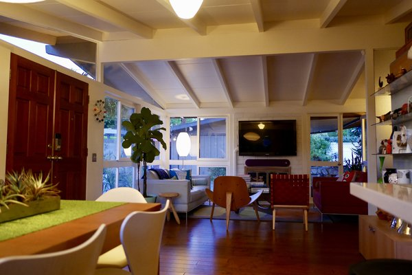 Open beam ceilings were a feature of the Cliff May designed ranchos. Photo 5 of Kallin Rancho modern home