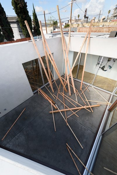 Aerial View of Central Courtyard Photo 9 of Samuel Freeman Gallery - Culver City Arts District modern home
