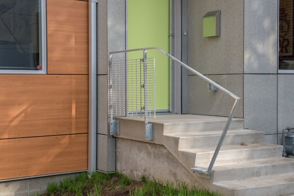 Exterior decks and railings also utilize galvanized steel support members and aluminum bar grating to provide a slightly industrial, yet refined appearance. Photo 3 of Ligonier Street Residence modern home