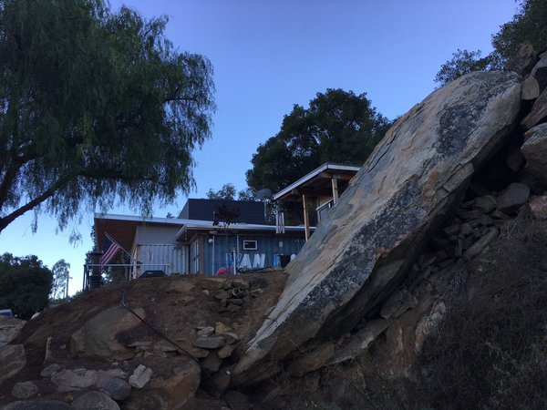 This small guest house is built on the edge of a canyon.  Photo 2 of Lakeside Cottage modern home