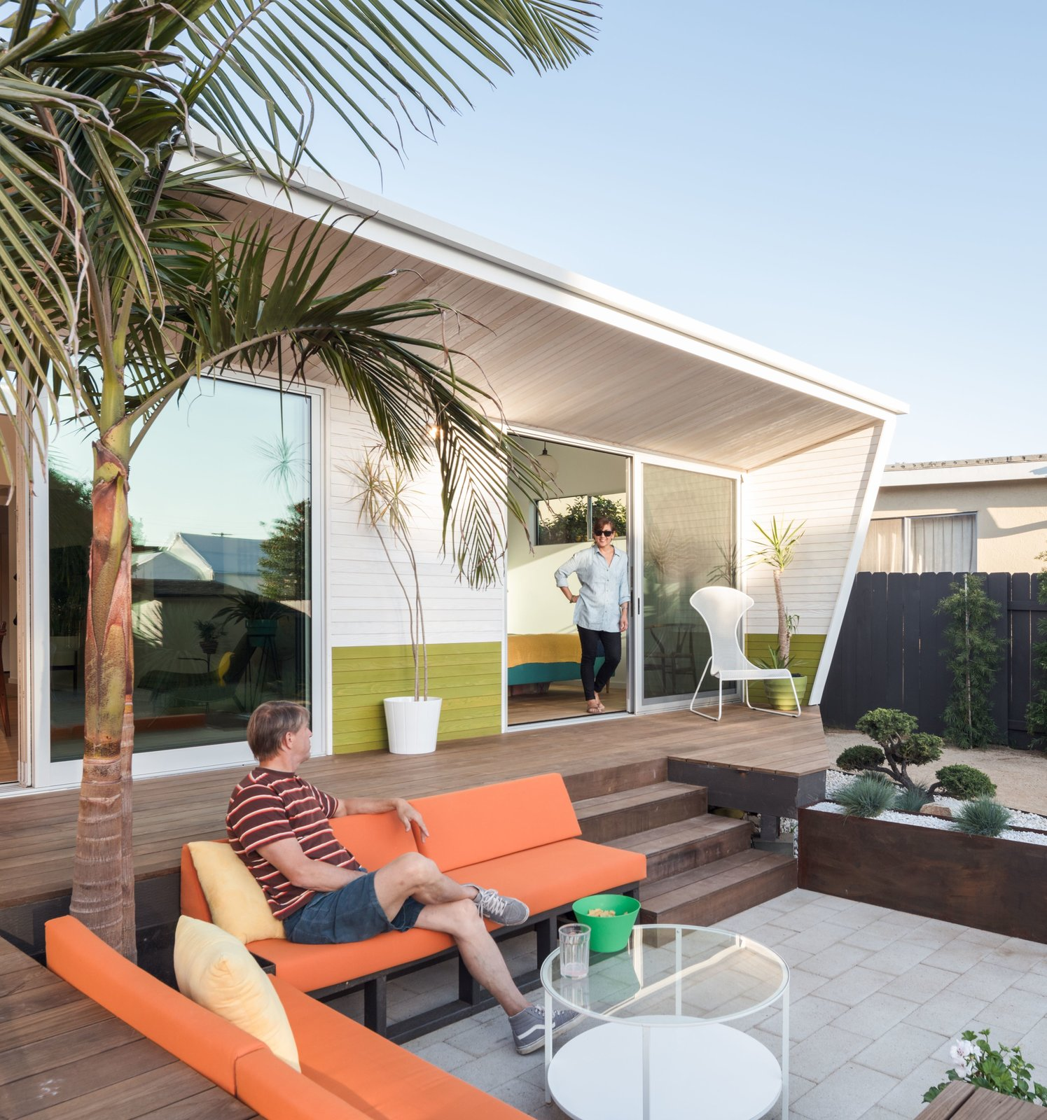 corten steel planter + Bonsai garden Tagged: Outdoor, Back Yard, Trees, Raised Planters, Wood Patio, Porch, Deck, Vertical Fences, Wall, and Wood Fences, Wall.  The Beach Lab by Surfside Projects