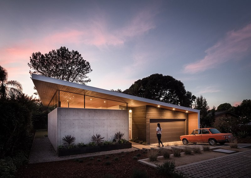 Coastal Sunset ,  Jacob's '73 BMW 2002 Tagged: Exterior, Concrete Siding Material, and Wood Siding Material.  Avocado Acres House by Surfside Projects