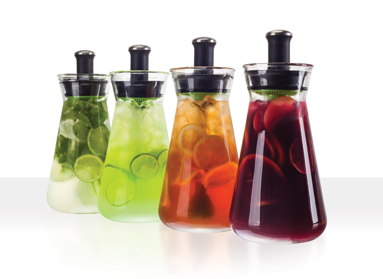 The Z54 carafe is a fresh and healthy alternative to HFCS soft drinks.  Muddle, mix and serve from the 54 oz glass carafe. Pulls after-hours duty on mojitos, sangria and margaritas.  zinganything.com