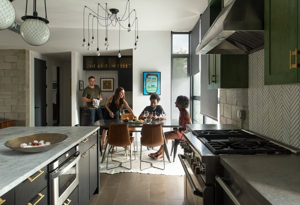 Architect Tobin Green and his wife, Bianca, entertain regularly at 400SOLA. It's an important part of their lifestyle, and thus, an important part of Green's design.