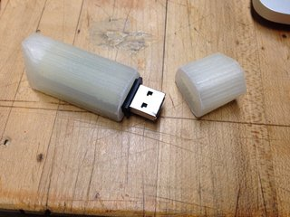 The Future of Manufacturing Started in the 1980's - Photo 1 of 3 - You can clearly see the layers of plastic added to create this simple USB housing.