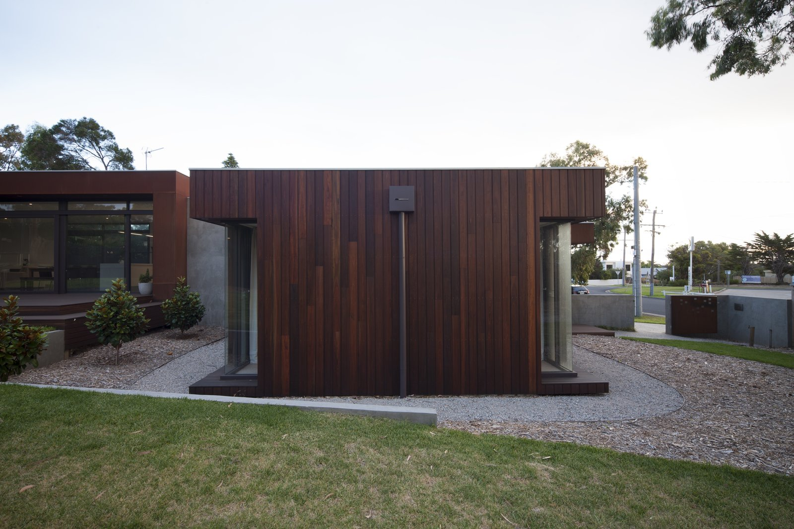 Spotted Gum Clad Living Pod  Pod Residence by Bespoke Architects