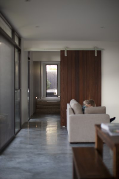 Feature Internal Sliding Door & Polished Concrete Floors Photo 15 of Pod Residence modern home