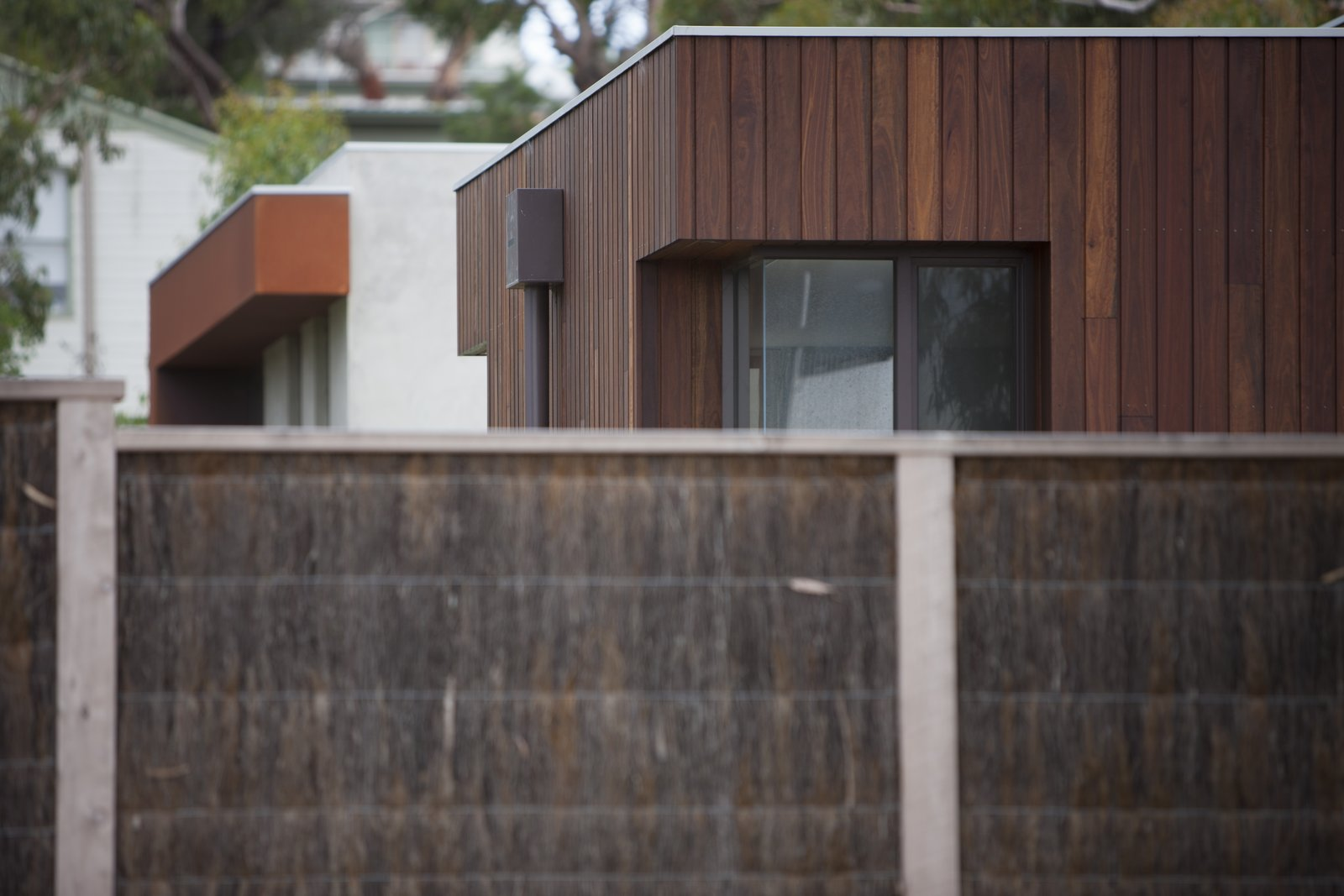 Brush Panel Fence  Pod Residence by Bespoke Architects
