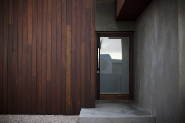 Front Entry Spotted Gum Cladding  Photo 10 of Pod Residence modern home