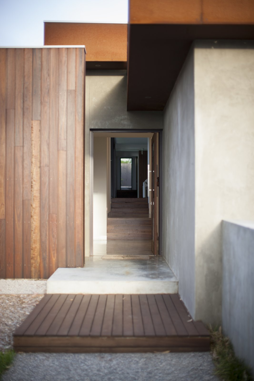 Entry Showing Internal Spotted Gum Stairs
