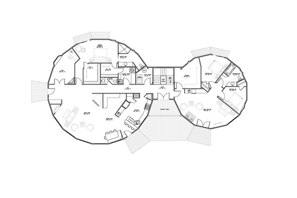 Open concept floorplan Photo 9 of A Deltec Tree House modern home