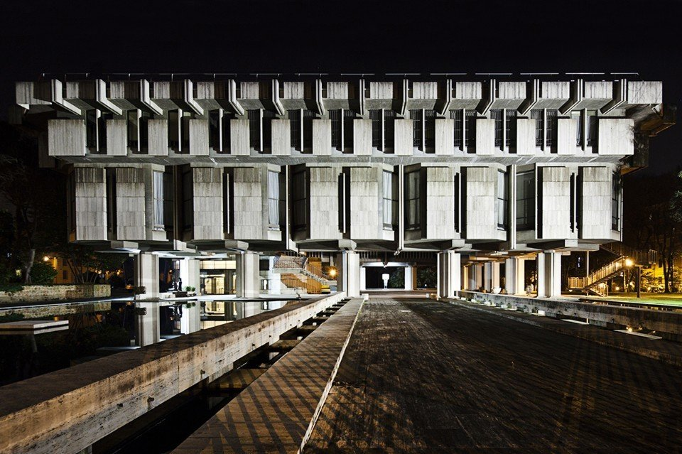Sir Basil Spence, British Embassy, 1971. Rome, Italy  Brutes by Deam + Dine