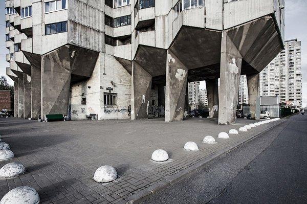 V. Sokhin, V. Sokolov, P. Kurochkin, Housing complex, 1993. Saint Petersburg, Russia  Brutes by Deam + Dine