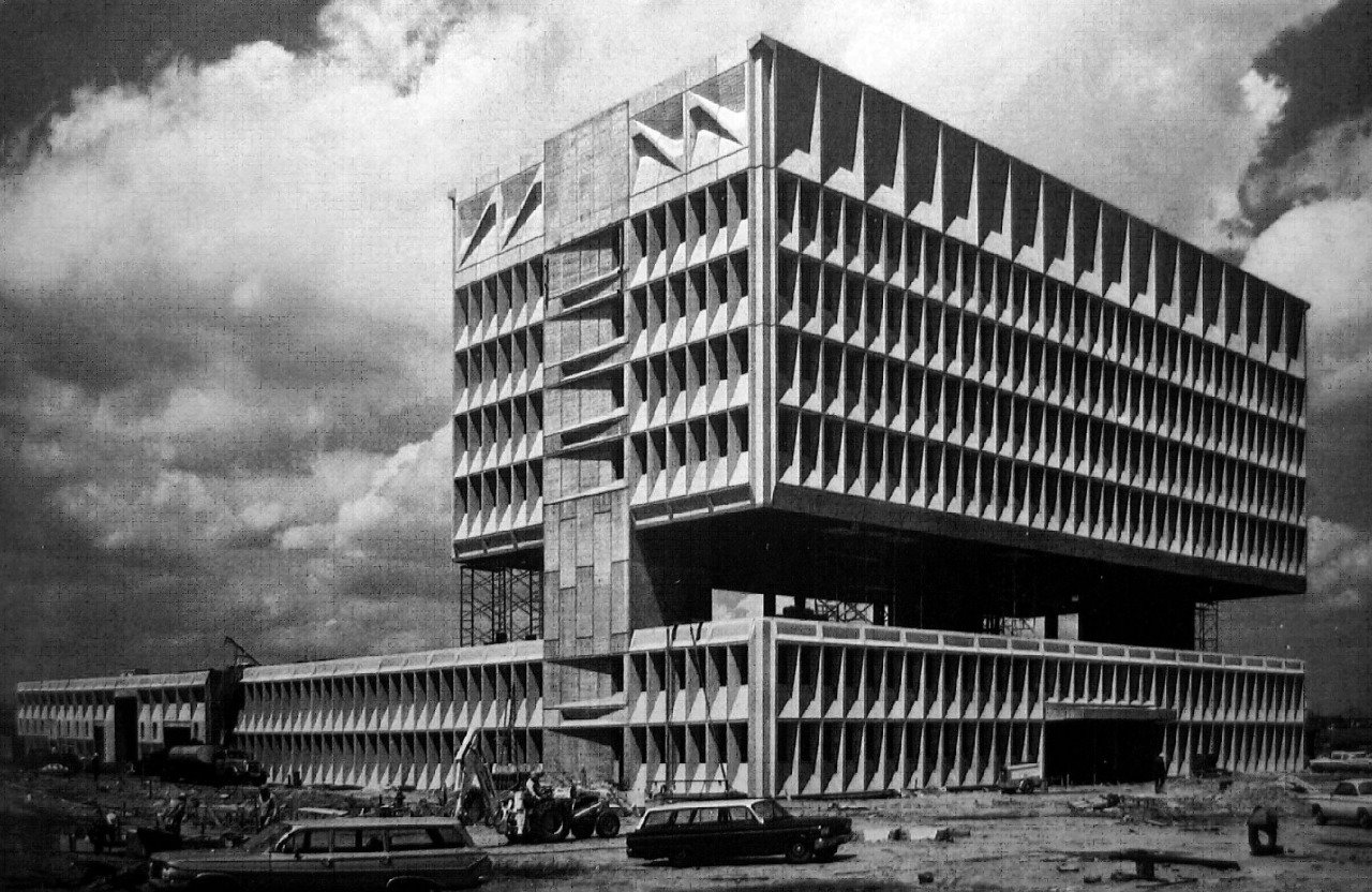 New Haven in 1969, designed by Marcel Breuer  Brutes by Deam + Dine