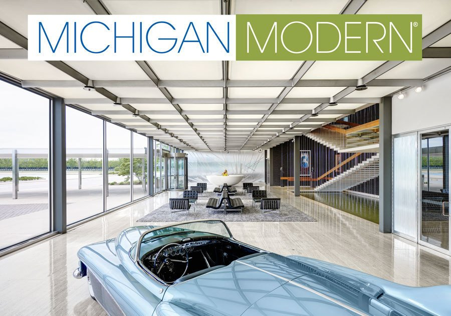 Michigan Modern  Design Award of Excellence, Advocacy  The Michigan Modern project raised awareness of the state's modern resources and design heritage. The photograph of the lobby of the Design Building at General Motors Technical Center by Eero Saarinen serves as the cover for the book Michigan Modern.     Greatness Restored: The 2016 Modernism in America Awards by Nia Hampton