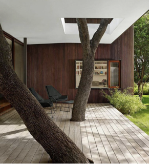 15 Brilliant Designs That Work Around Nature - Photo 2 of 15 - Mark Word Design incorporates trees directly into the deck and seating area at the Lakeview Residence in Austin, Texas.