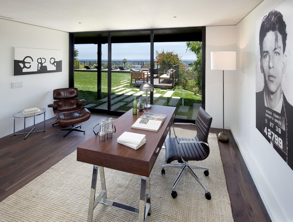 Modern home with office, study, chair, desk, and lamps. Photo 7 of Paseo Ferrelo