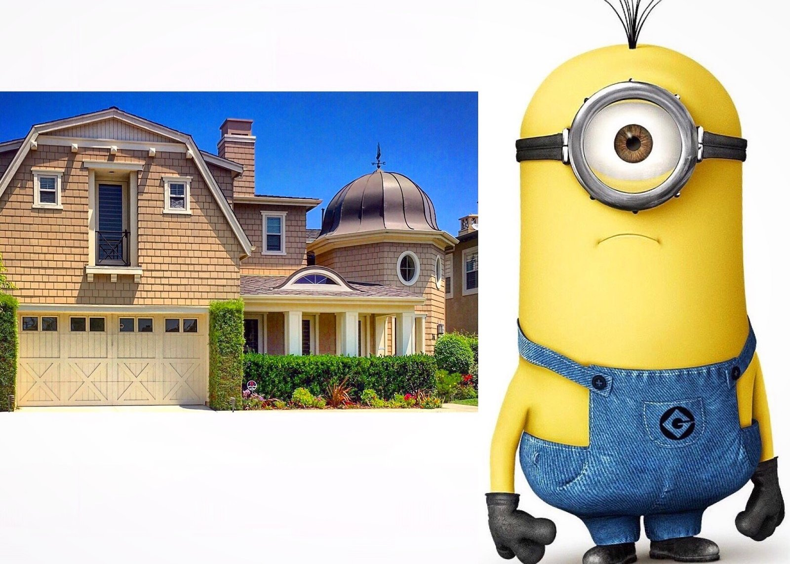 This Dutch colonial comes with its own Minion.   There is no 'I' in Archetect by Remarkablearchitecture