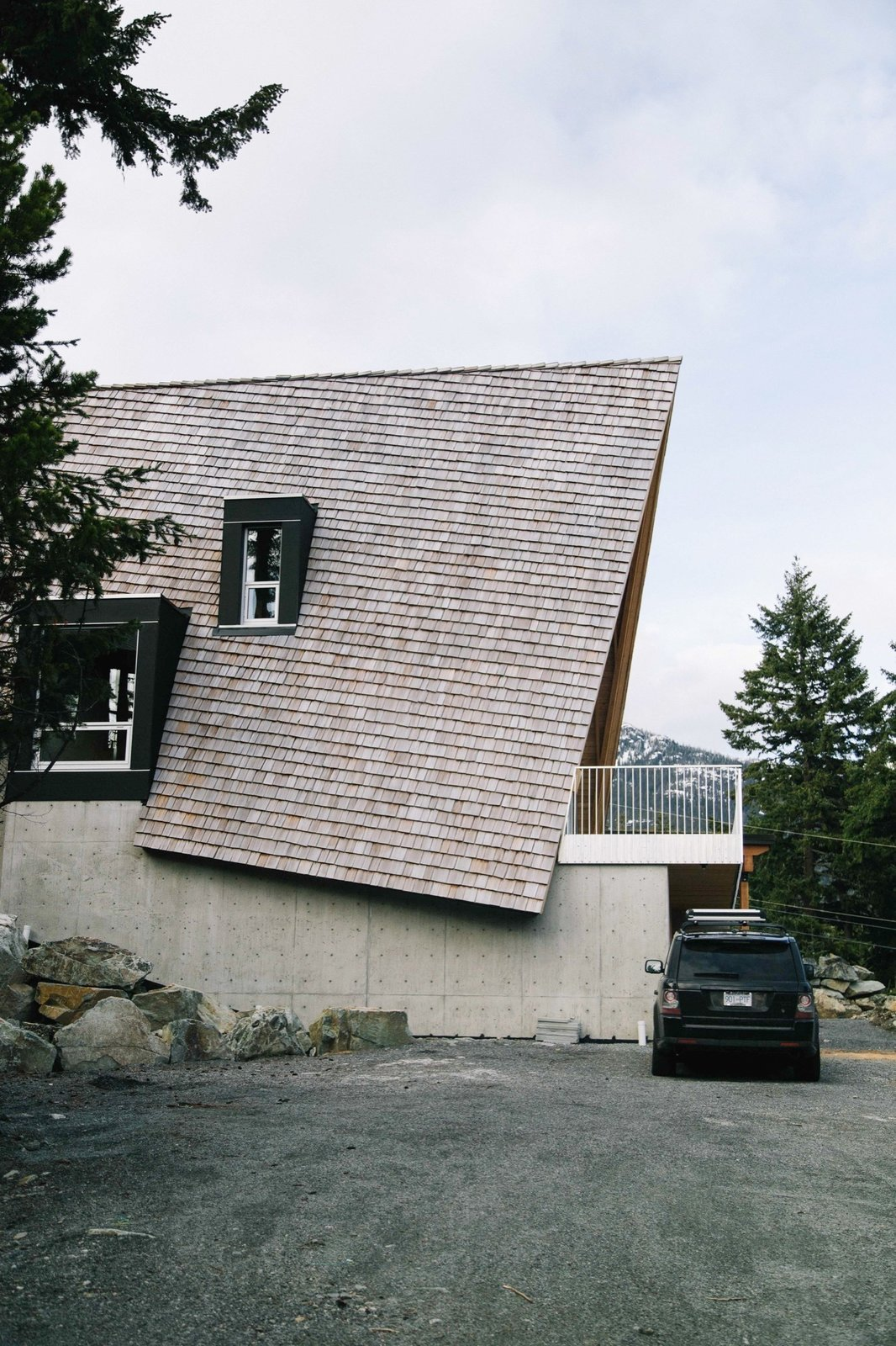 Tagged: Outdoor, Boulders, and Small Patio, Porch, Deck.  Cabins & Hideouts by Stephen Blake from A Whistler A-Frame