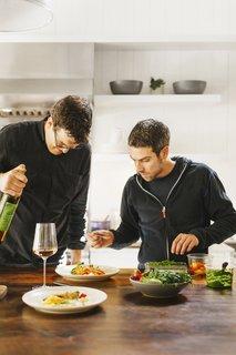 Go Wild - Photo 3 of 6 - Alpine Modern Chef Colin Kirby with bartender Jon Watsky.