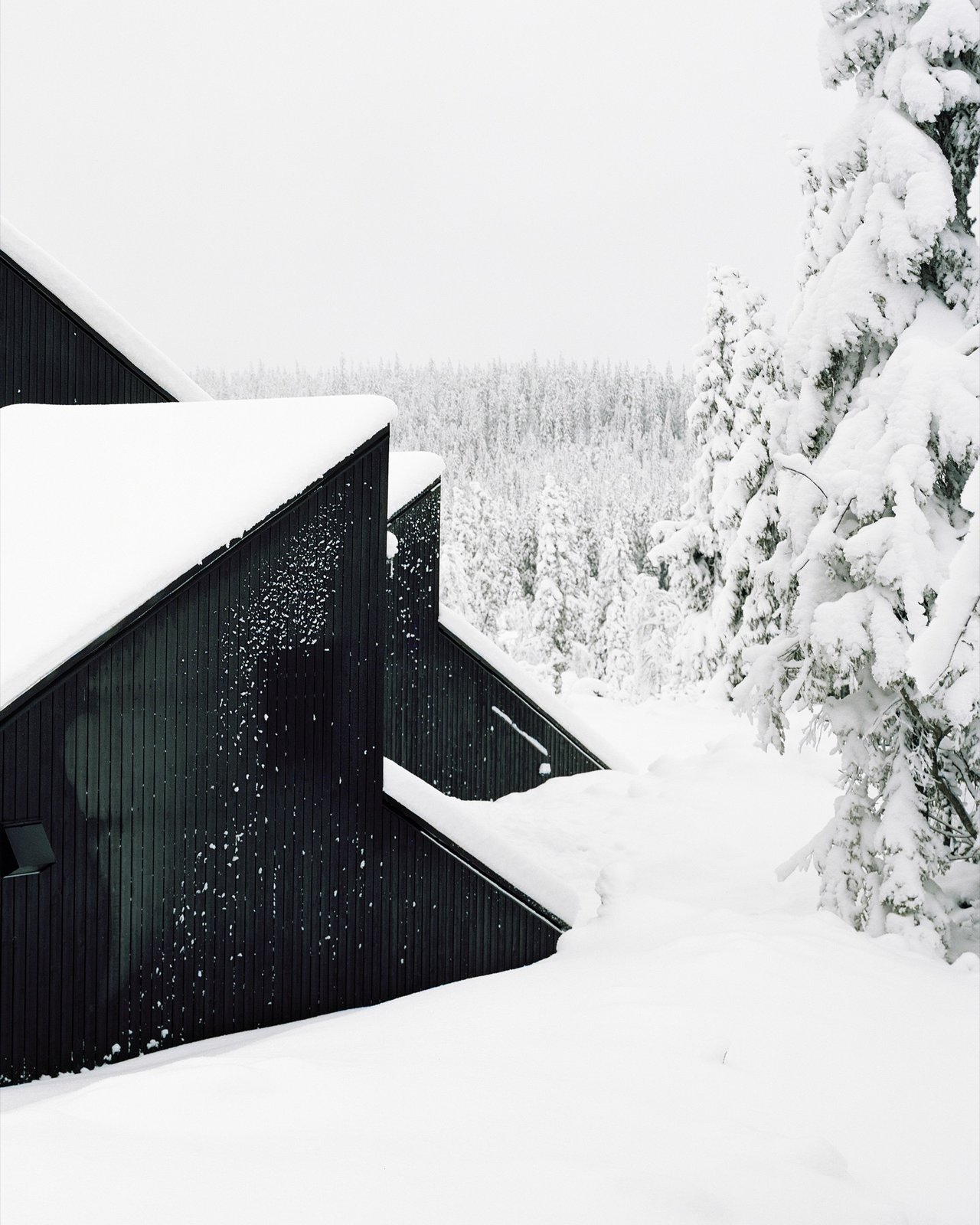 winter by Molly E. Osler, Interior Design from The Vindheim Cabin: Snowbound in Norway