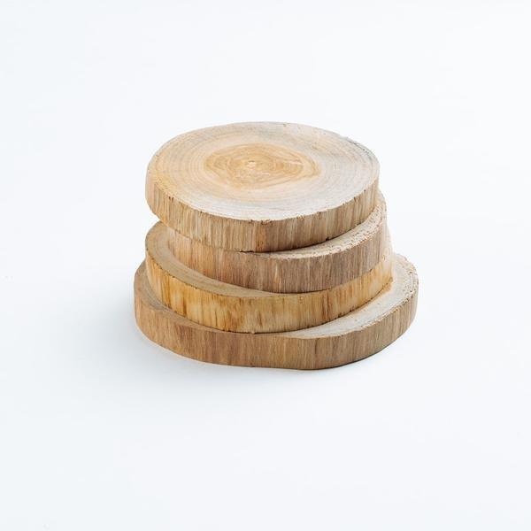 Teak Wood Coasters Set of 4
