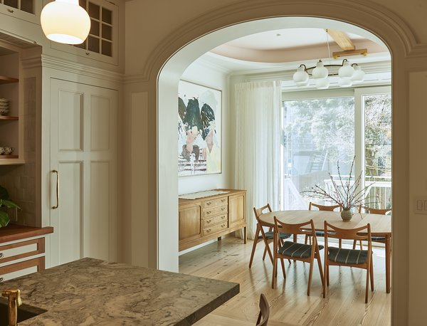 This 5-story 1860's Brooklyn townhouse features Zola's triple-glazed Thermo Clad windows and doors in FCS-certified pine. An expansive, three-panel lift slide door spans nearly the entire width of the house, illuminating the whole floor. The rear facade is southern-facing, and the spacious dining room provides an ideal location for placement of this large opening.  http://www.zolawindows.com/thermoclad/ Photo 4 of Carroll Gardens Passive House modern home