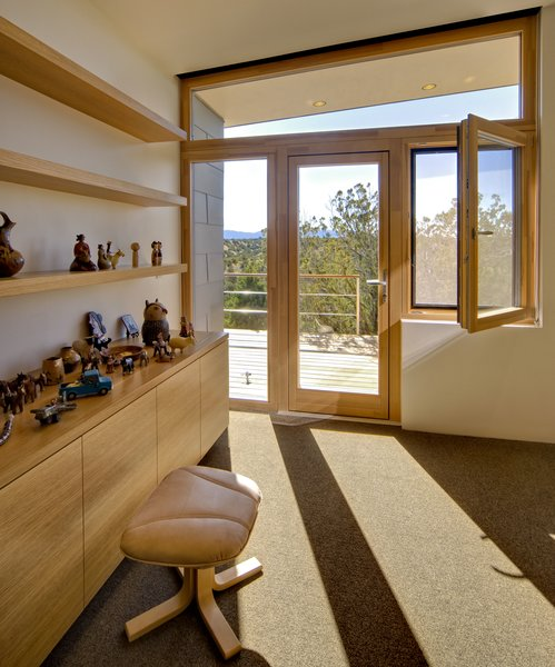 This home is outfitted with Zola's Thermo Clad windows and doors. These are triple-pane windows and doors. They combine beautiful wood craftsmanship with the great durability and longevity of aluminum cladding.  http://www.zolawindows.com/thermoclad/ Photo 2 of La Tierra Nueva modern home