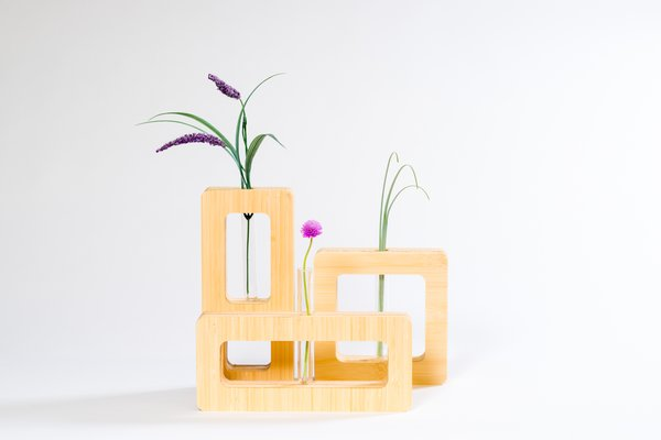 Our geometric bud vases are inspired by the American Southwest landscape in spring; peaks, valleys, and mesas with the occasional flower that pops against a dusty backdrop. Photo 2 of Modern, Minimalist and packed with Meaning modern home