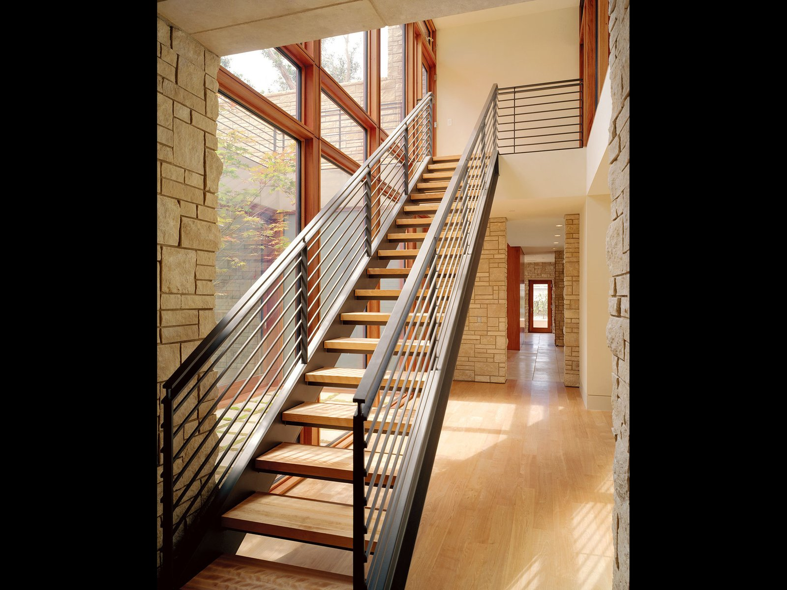 Edgewood House Mill Valley, CA Tagged: Staircase, Metal Railing, and Wood Tread.  Best Photos from Edgewood House