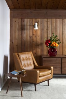 Styling a Rescued Mid-Century Gem - Photo 5 of 6 - Making ourselves at home with our mid-century lounge chair.