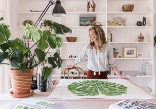 "The Great Indoors - Photo 6 of 6 - Jenny describes white space as equally important to her work as her signature green plantlife. ""I'm all about white, negative space. It's just as important as a full page of colour,"" she says."