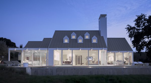 Modern home with outdoor and back yard. exterior, night shot Photo 13 of The Birdhouse
