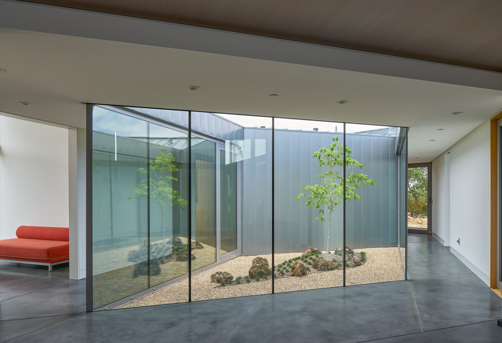 interior, atrium Tagged: Hallway.  Lake Berryessa Custom Home by Centric General Contractors