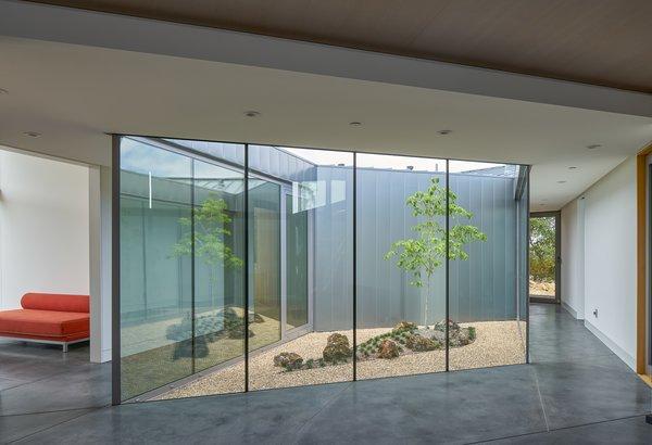 Modern home with hallway. interior, atrium Photo 4 of Lake Berryessa Custom Home