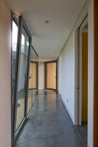 Modern home with hallway. interior, transitional space Photo 5 of Lake Berryessa Custom Home