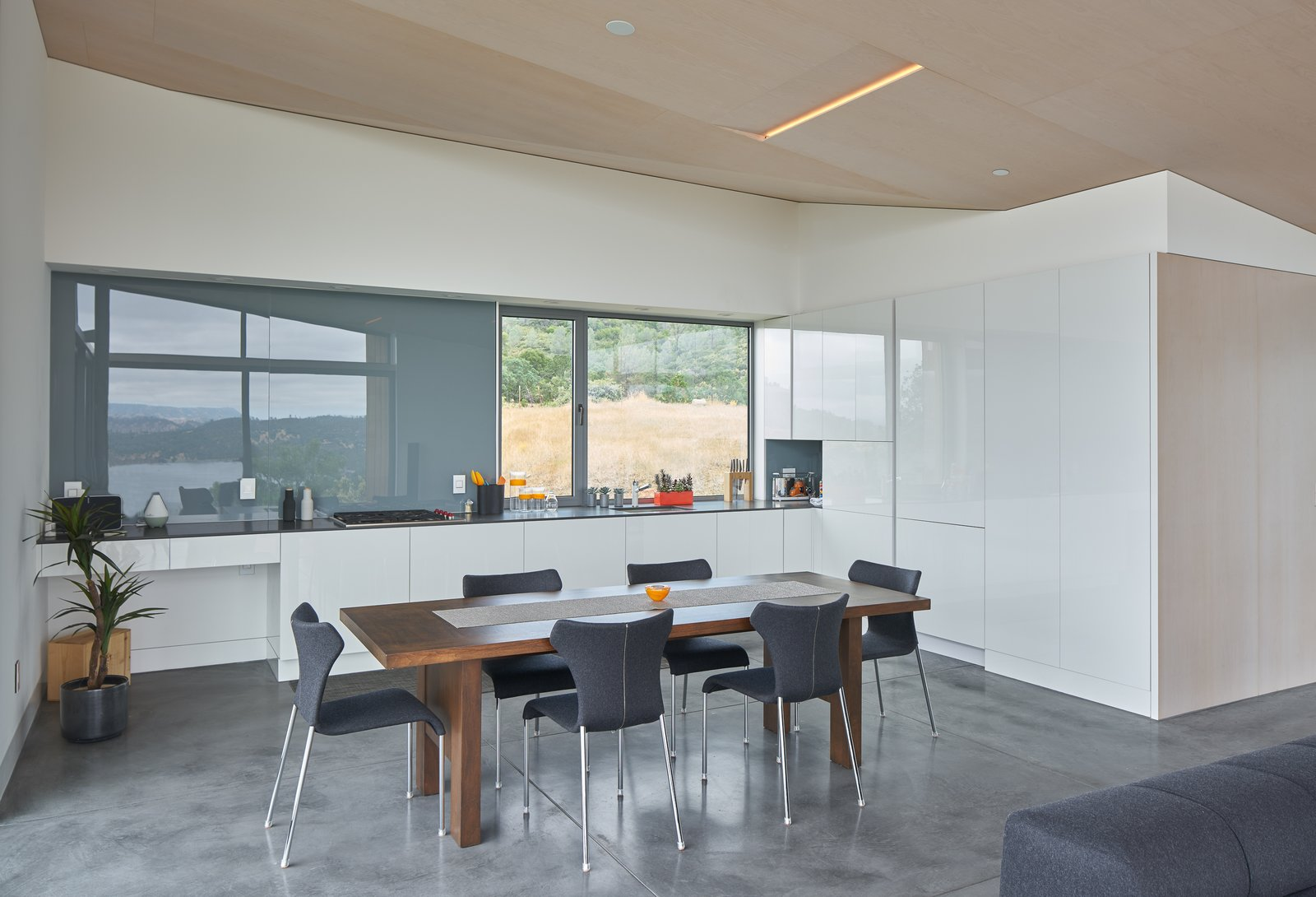 interior, kitchen Tagged: Kitchen, White Cabinet, and Recessed Lighting. Lake Berryessa Custom Home by Centric General Contractors