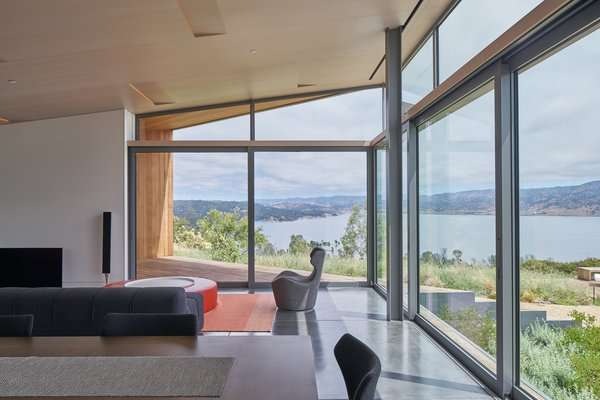 Modern home with living room. interior, living space Photo 9 of Lake Berryessa Custom Home