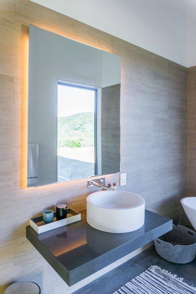 Modern home with bath room. interior, bathroom Photo  of Lake Berryessa Custom Home