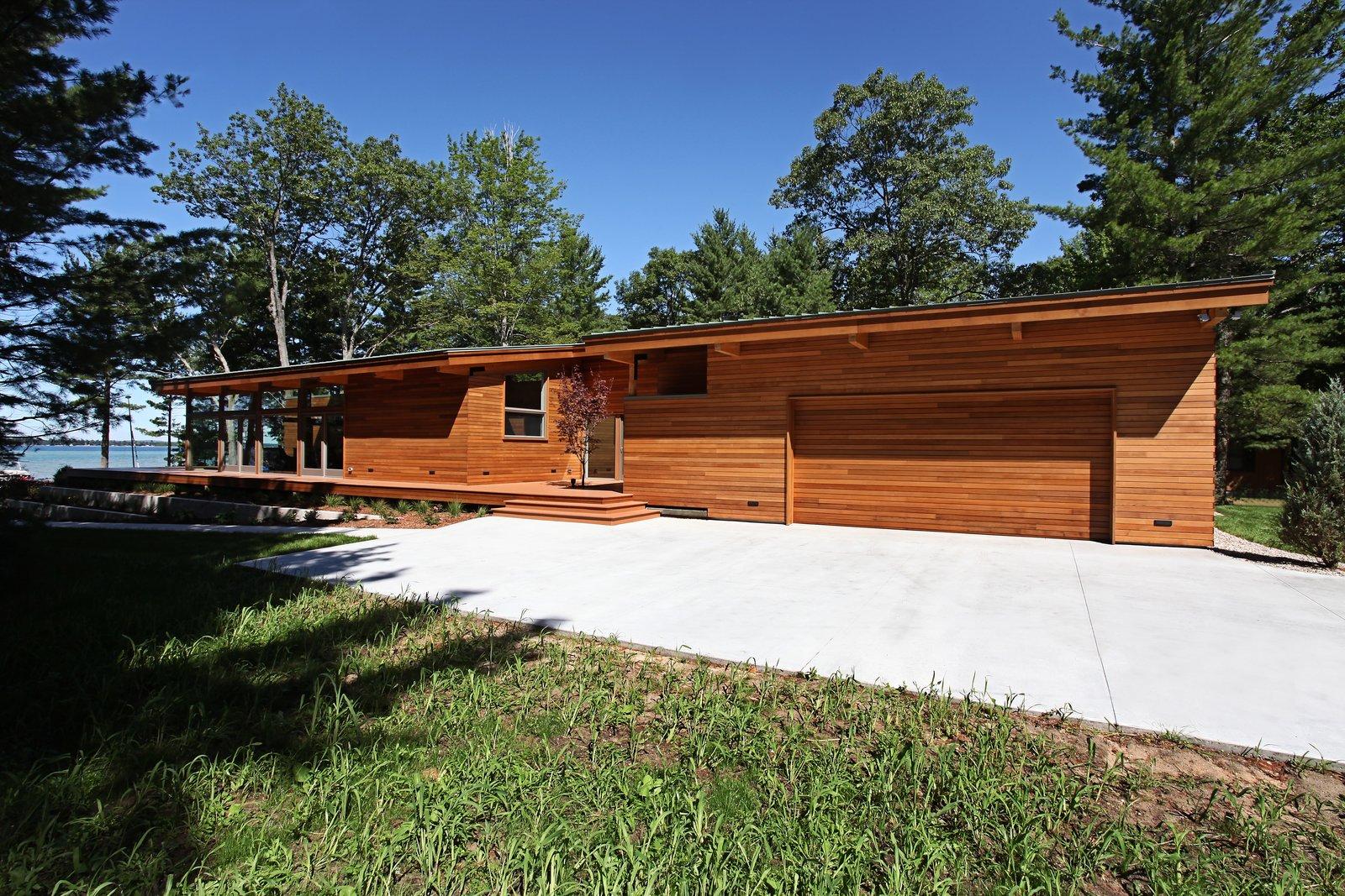 South facade  Higgins Lake House by Jeff Jordan Architects