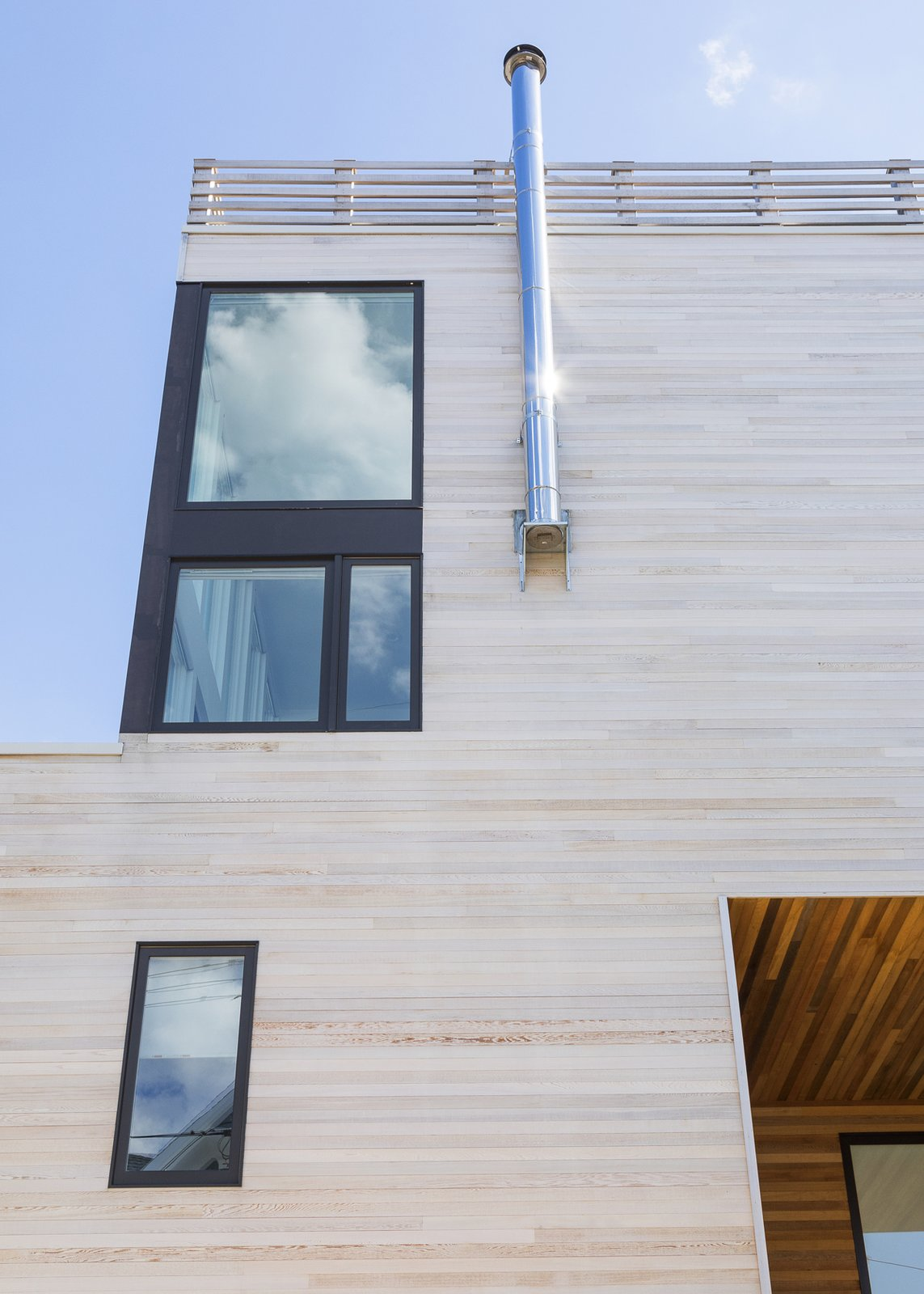 Facade step Tagged: Outdoor.  Sea Bright House by Jeff Jordan Architects