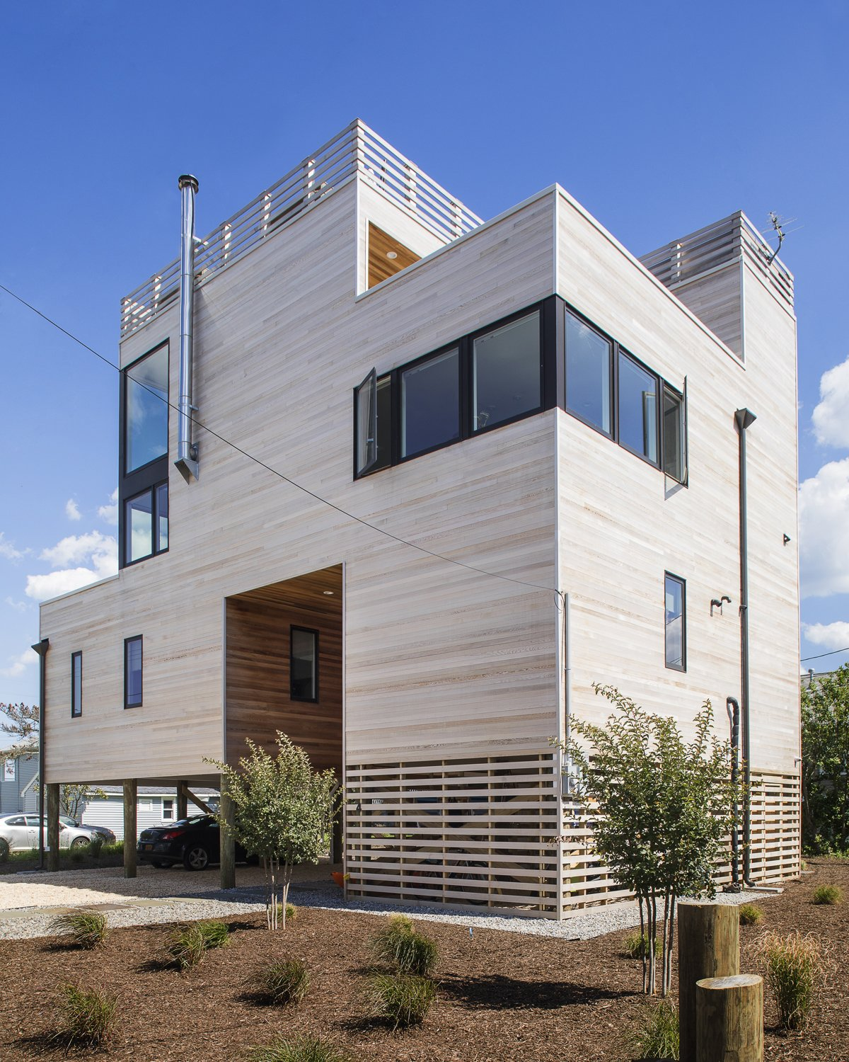 Northwest exterior view  Sea Bright House by Jeff Jordan Architects