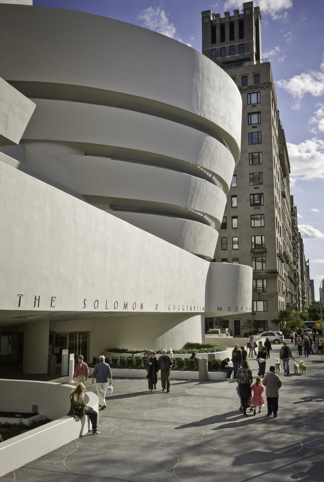 October 21 Building of the Day: Solomon R. Guggenheim Museum  Frank Lloyd Wright; Gwathmey Siegel and Associates, '92 addition and renovation   Photo: David Heald  2013 Buildings of the Day by Archtober