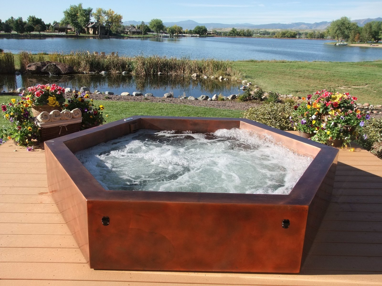 Copper Above Ground Hot Tub