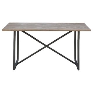 How to Decorate Your Dining Room at Every Decade - Photo 2 of 19 - Target Wynnefield Mixed Material Trestle Dining Table ($207)