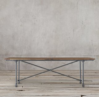 How to Decorate Your Dining Room at Every Decade - Photo 6 of 19 - Restoration Hardware Flatiron Rectangular Dining Table ($895)