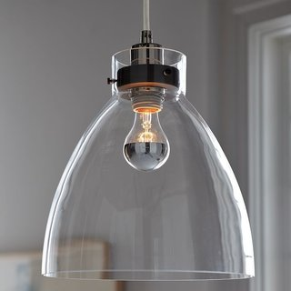 Inside the Modern Nantucket Home of an Architect - Photo 8 of 30 - West Elm Industrial Glass Pendant ($99)