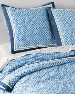 Inside the Modern Nantucket Home of an Architect - Photo 24 of 30 - Serena & Lily Geo Quilt ($198)
